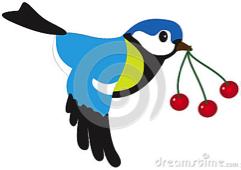 vogel met bessen